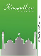 Greeting Card - Ramadhan - Vector Greeting Card - Ramadhan