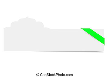 Blank Card With Mosque Shape - Vector Blank Card With Mosque...