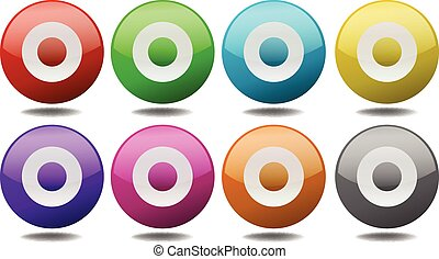 Targets - Round targets in eight different colors