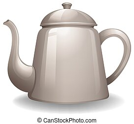 Kettle with lid in simple design