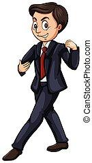 Tango - Man in formal suit dancing tango