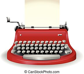Typewriter - Red typewriter in simple design