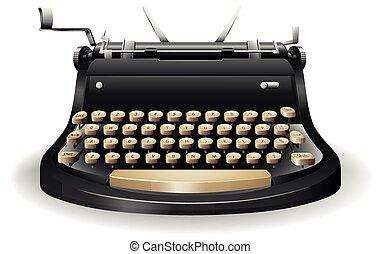 Typewriter - Close up typewriter with no paper