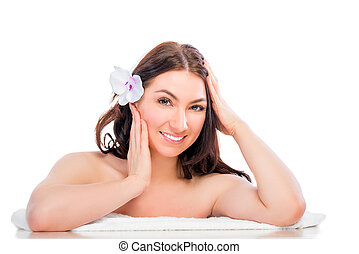 well-groomed young woman at a spa