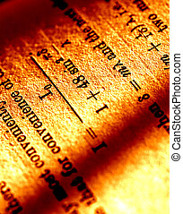 Mathematics book - Close up of old mathematics book