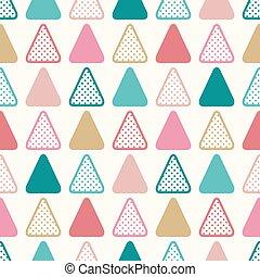 seamless triangle dots pattern