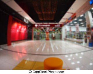Interior of the shopping center was blurred for use as a...