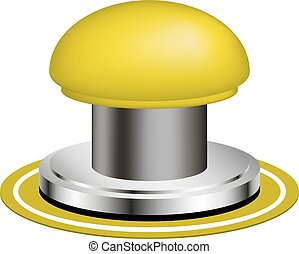 Alert push button on white background