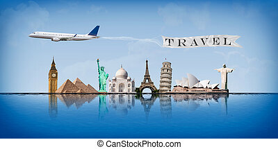 Message concept travel around the world - Concept of travel...
