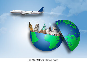 Travel around the world - Concept of travel around the world...