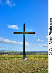 cross of christ in field