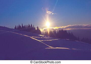 montagne, inverno
