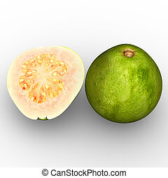 Guavas are common tropical fruits cultivated and enjoyed in...