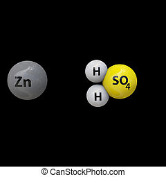 Zinc and sulfuric acid reaction