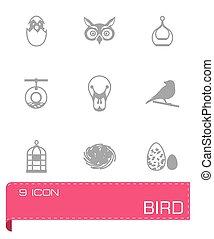 Vector Bird icon set