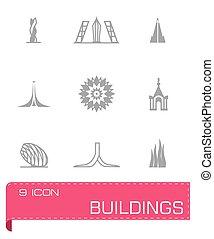 Vector Buildings icon set
