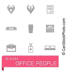 Vector Office people icon set