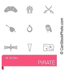 Vector Pirate icon set