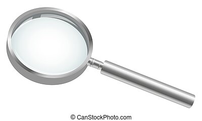 magnifying glass - three dimensional magnifying glass...