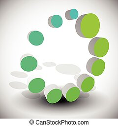 Radial, dotted circle abstract element Generic icon
