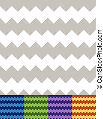Geometric pattern(s) with zigzag lines. Seamlessly repeatable. Simple chevron backgrounds. Vector.