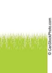 Vector seamless illustration of green grass border
