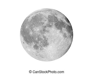 Full moon seen with a telescope from northern emisphere at...
