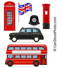 london set icons illustration isolated on white background