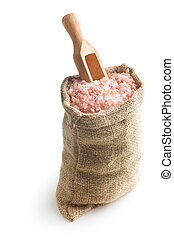 Himalayan salt in the bag