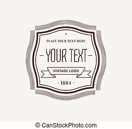 Vintage Hipster Design Element for Vector Logo - Abstract...