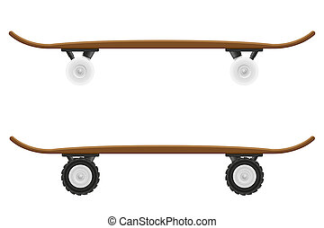skateboard illustration isolated on white background