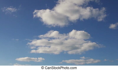Blue sky with clouds - Beautiful cloudscape, blue sky with...