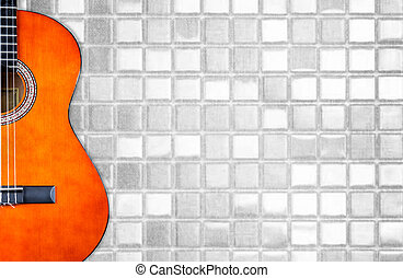 acoustic guitar abstract effect photo