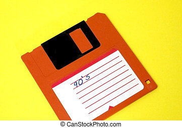 90,s - diskette con la inscripcion 90s