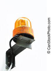 Revolving amber light as a beacon or siren
