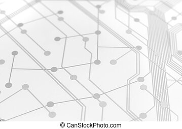 White Circuit Board with connection links - White Circuit...