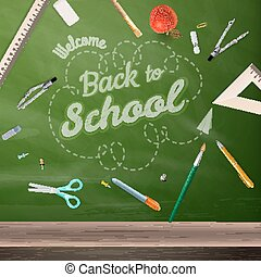 Blackboard education concept EPS 10 - Back to school -...