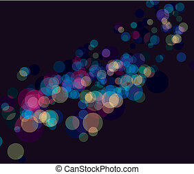 Multi color bokeh lights background No transparency and...