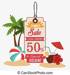 Shopping design - Shopping design over white background,...