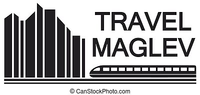 travel maglev symbol for rail way industry