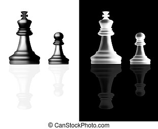 Chess pieces vector - Chess reallistic pieces vector