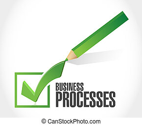 business processes check sign concept illustration design...