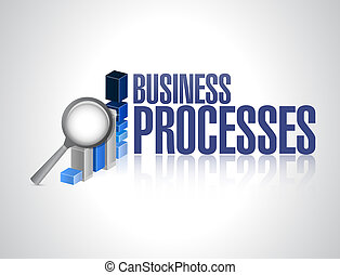 business processes graph review sign concept illustration...