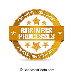 business processes seal sign concept