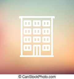 Hotel thin line icon - Hotel icon thin line for web and...