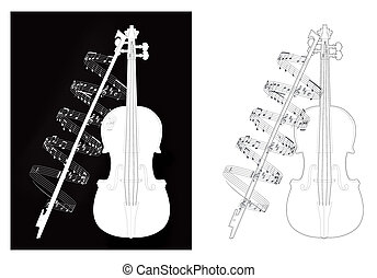 illustration violine with note
