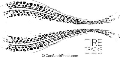 Tire tracks background Vector illustration can be used for...