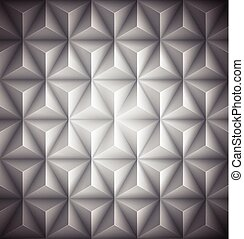 Gray Geometric abstract low-poly paper background. Vector illustration