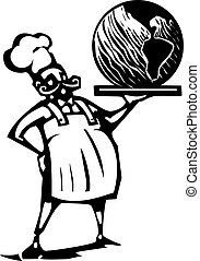 Chef with earth
