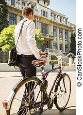 ビジネスマン, 自転車